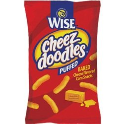 Wise Puffed Cheez Doodles, 1.25-Oz Bags (Pack of 36)
