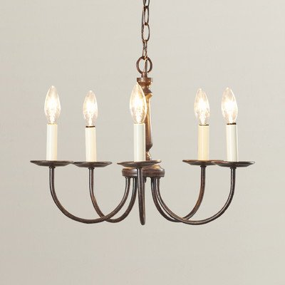 Elegant 5-Light Candle-Style Chandelier, Made Of Durable Met