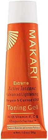 Gel Tonificante Facial de Zanahoria y Aceite de Argán de 1.0oz de la Línea Makari Extreme – Gel Aclarador que da Brillo y Estira la Piel con Organiclarina™