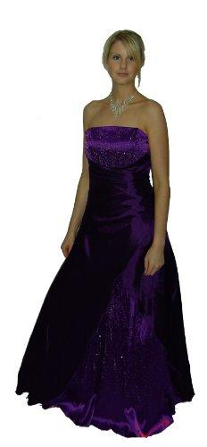 Abendkleid Steinchen mit Lila Rückenschnürung mit silbernen 2007A BxB0frO