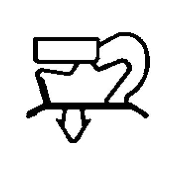 Joint pour réfrigérateur magnétique à clipser Dim. 745x 660mm