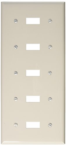 Morris 81051 Lexan Wall Plate for Toggle Switch, 5 Gang, White