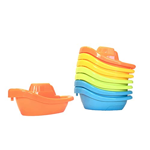 Stackable and Towable Boat Original Water Play Bath Set