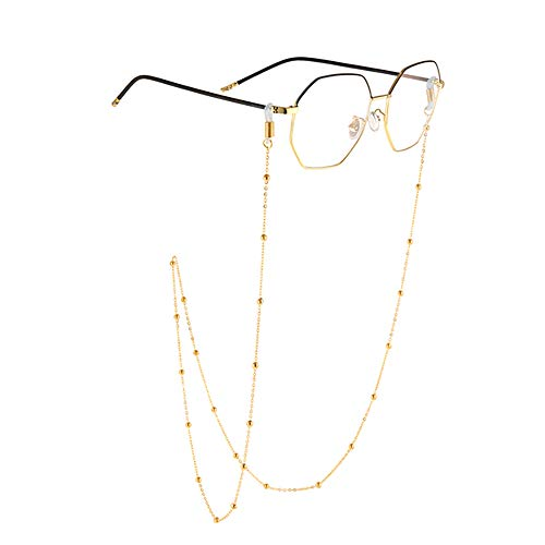AllenCOCO 18K Gold Plated Fashion Eyeglass Chain Fit Sunglasses Eyewear Reading Glasses Strap for Women