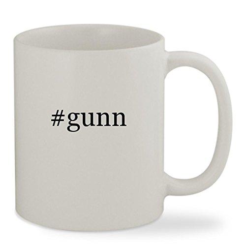 #gunn - 11oz Hashtag White Sturdy Ceramic Coffee Cup Mug