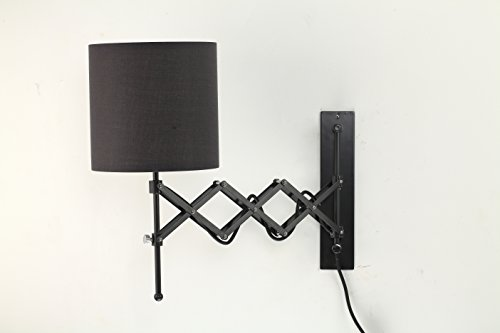 Modernluci Swing Arm Adjustable Multi purpose Reading Task Wall Lamp with Extendable Accordion Type (19 Inch Swing Arm Lamp)