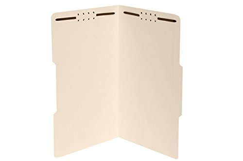 50 Legal Size 1/3 Cut Fastener File Folders- Reinforced Top Tab- Durable 2 Prongs Designed to Organize Standard Legal and Medical Files, Law Office Reports – Legal Size, Manila, 50 Pack (-330)