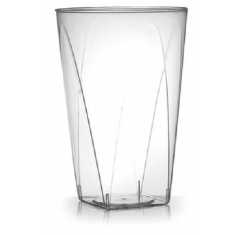 100 CLEAR 10 oz Square Bottom Tumbler, Heavyweight w/ Signature Party Picks