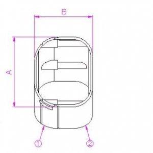 10個セット 配管化粧カバー コーナー(45°平面用) 66タイプ ブラウン KC-6545-BR_set