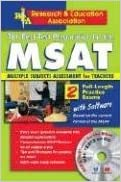 MSAT/ with CD-ROM - The Best Test Prep for the MSAT (PRAXIS Teacher Certification Test Prep) by The Editors of REA (2000-06-08)