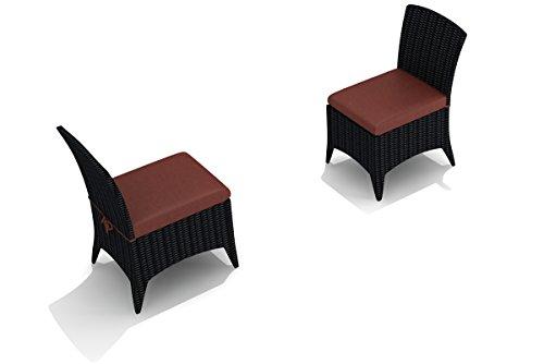 (Harmonia Living HL-AR-CB-DSC-HN Arbor Dining Side Chair, Canvas Henna Cushion)