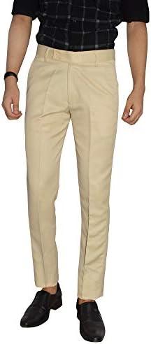 KUNDAN Slim Fit Men Polyester Viscose Blend Trousers