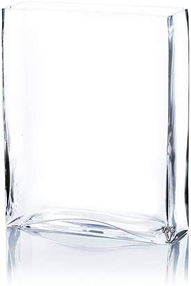 Amazon Com Wgv Clear Slim Block 2 X 8 Wide 10 High Glass Vase Candle Holder 10 Clear Garden Outdoor