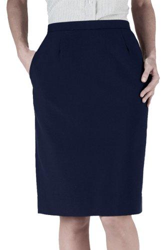 - Ed Garments Women's Waistband Straight Skirt, DARK NAVY, 6