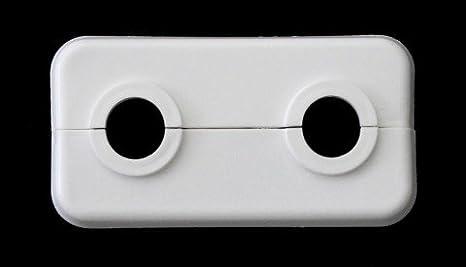 Doppel-Rosette für Heizungsrohre, 10 Stück, Abdeckung für Heizungsrohre, Heizung, 2-teilig, 12mm, 14mm, 15mm, 16mm, 17mm, 18mm, 19mm, 21,3mm; weißes Polypropylen (18mm) FUX