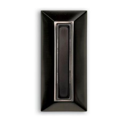 Heath Zenith DW-754 Wired Halo-Lighted Rectangular Push Button, Black