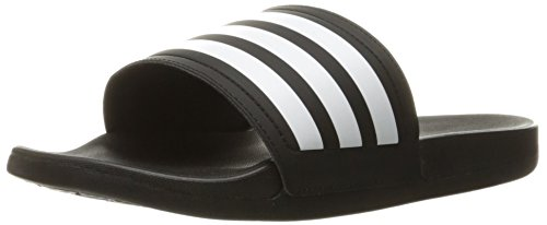 adidas Womens' Shoes | Adilette CF Ultra Stripes Athletic Slide Sandals, White/Black, (8 M US)