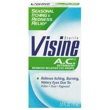- Visine A.C. Seasonal Itching+ Redness Relief Eye Drops