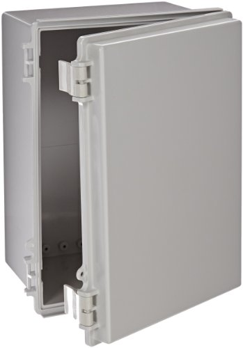 BUD Industries NBF-32324 Plastic Outdoor NEMA Economy Box with Solid Door, 13-49/64'' Length x 9-53/64'' Width x 7-5/64'' Height, Light Gray Finish by BUD Industries
