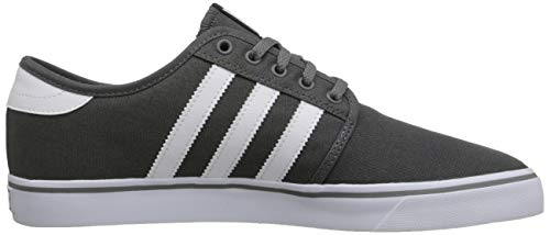 hot sale online 50b37 c157e adidas Men s Seeley Skate Shoe,Ash Grey White Black,4 ...