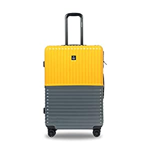 Best Polycarbonate Luggage Yellow and Grey 28 inch | 75cm Trolley Bag