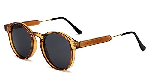 1c97adaa989 ZAPPER 2019 New Retro Round Sunglasses Women Men Design Transparent Frame  Female Sun glasses (CHAMPAGNE