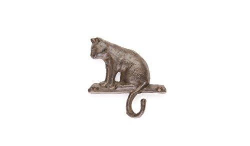 "Cat Hook Coat Hanger | Cat Key Hanger | 4.5""w X 4""h | Cast Iron Decor | Rustic Decor | Western Decor"