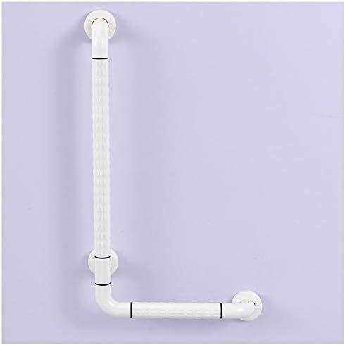 浴室のサポートハンドル、バスルーム安全レール、バリアフリーL字型ライトアングルアームレスト、抗菌浴室アンチスキッドアームレスト、L-グリップ,白