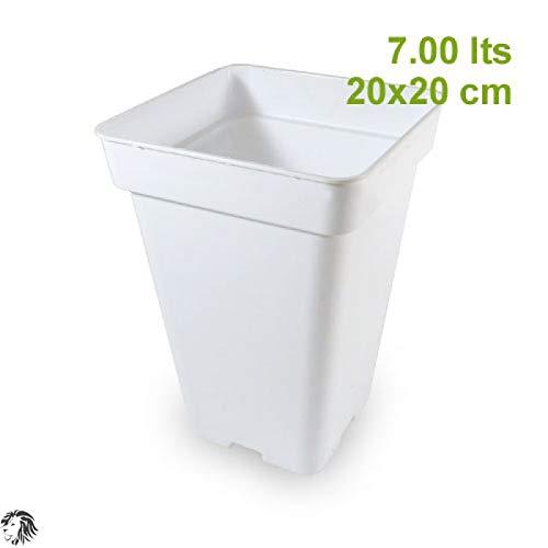 Maceta Blanca Cuadrada 26X20X20 DE 7 litros
