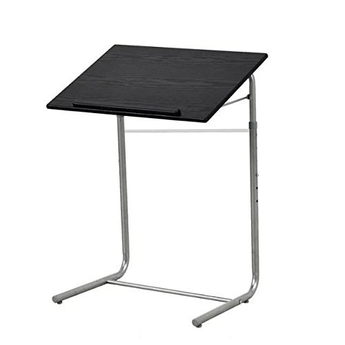 Stand Writing (GreenForest Simple Portable Table Adjustable Folding Bed Tray Laptop Desk Reading Notebook Stand Black)