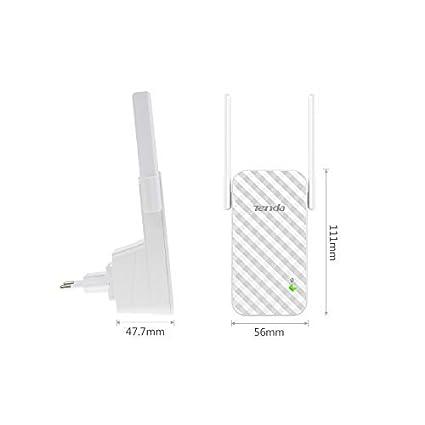 Tenda A9 N300 Repetidor de red Wifi Extensor Amplificador de Cobertura (300Mbps, 2 Antenas externas, Red Cobertura WiFi inalambrico más de 200 Metros, ...