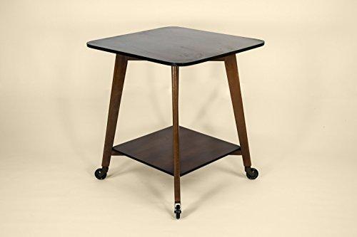 Wood Vintage Minimalist Small Gift Mid-century Modern TABLE Elegant Brown English 1950s LS - Bassett Cottage Collection