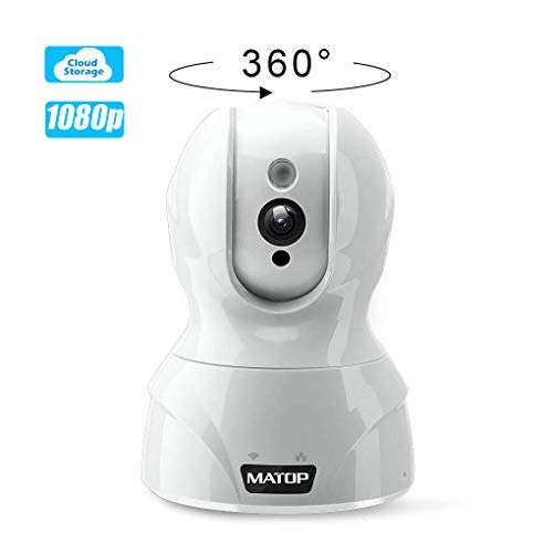 Baby Monitor Wireless Security Camera - MATOP 1080P HD Cloud Home Security Camera IP Camera Pan/Tilt/Zoom WiFi/Ethernet 2 Way Audio with Motion Detection Night Vision for Baby/Elder/Pet Security