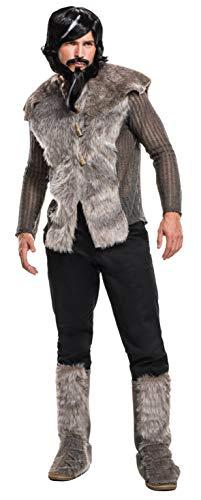 Zoolander And Mugatu Costumes (Rubie's Men's Zoolander 2 Derek Faux Fur Coat Costume, Multi,)