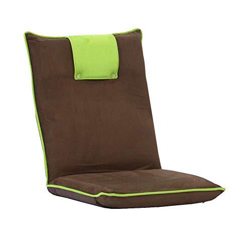 JIEER-C Ocio Silla de Oficina Sofa Tumbona Cama Suelo Silla de Juego Plegable Ajustable Espuma de Memoria Durable Fuerte