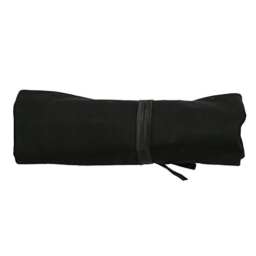 A Chef's Knife Roll Bag - Portable Travel Chef Knife Case Carrier Storage Bag with 4 Slots Best Gift For Pro Chef or Culinary Enthusiasts Men Women HGJ03-P Black by Hersent (Image #2)