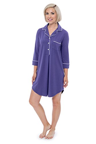 Women's Nightshirt in Bamboo Viscose (Zenrest, Kashmir Blue, Large) Merry WB0475-KHB-L
