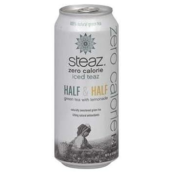Steaz Green Tea Soda Zero Calorie Iced Teaz Half and Half Green Tea with Lemonade — 16 fl oz