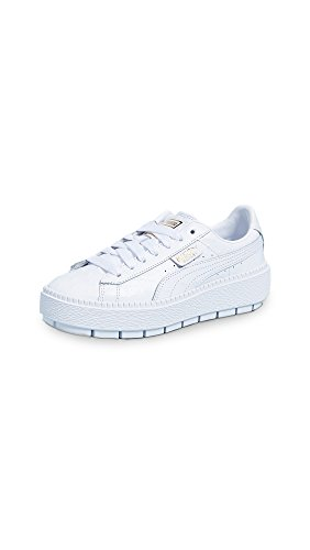Ladies Trace - PUMA Women's Platform Trace Ostrich Sneaker, White White, 11 M US