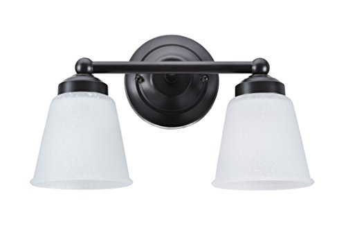 Aspen Creative 62013-2, Two-Light Metal Bathroom Vanity Wall Light Fixture, 13 1/2