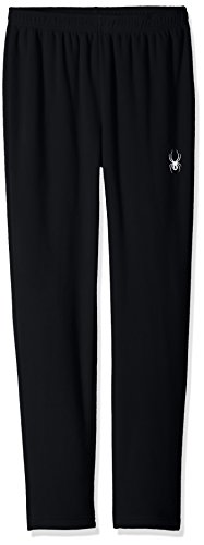 Spyder Boy's Momentum Fleece Pant, Black, Small (Spyder Black Fleece)
