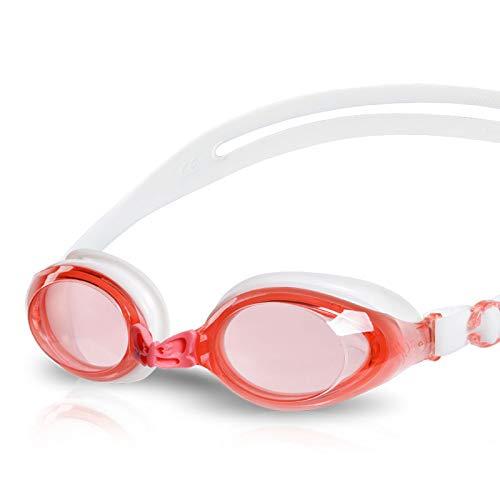 Rose  Jameslbj Lunettes De Natation Professionnelle Lumière Plate grand Cadre Imperméable Anti-Buée Et Anti-UV Haute Définition Adulte Unisexe