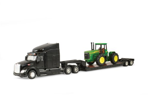 Ertl Big Farm Peterbilt Model 579 Semi with John Deere 4 Wheel Drive Tractor