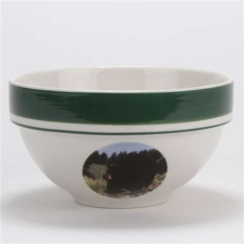 Black Bear by Tienshan, Stoneware Coupe Cereal Bowl