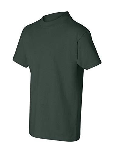 Hanes boys Cotton T-Shirt(5450)-Deep Forest-M (Hanes Kids Shirt)