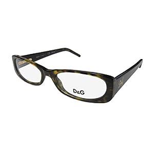 Dolce Gabbana 1140 Womens/Ladies Designer Full-rim Flexible Hinges Eyeglasses/Glasses (51-17-140, Green Tortoise)