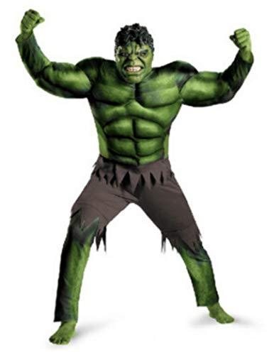 The Avengers Incredible Hulk Superhero Costume for Boys Kids Halloween Costume Children Gifts Fantasy Muscle Mask -