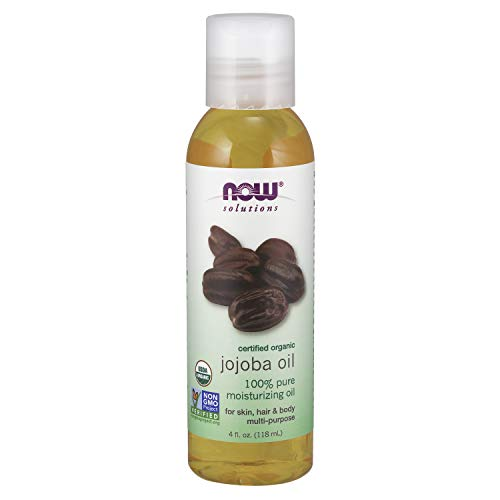 Now Solutions, Organic Jojoba Oil, Moisturizing Multi-Purpose Oil for Face, Hair and Body, 4-Ounce