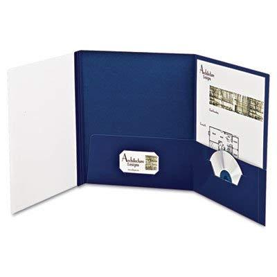 (Oxford ESS50677 YourStyle Custom Tri-Folio Presentation Folder, Letter Size, Navy-White, 4-Pack)