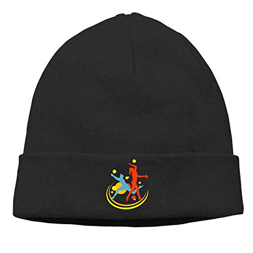 - 09&JGJG Beach Volleyball Players Men & Women Knit Hat Warm Knit Ski Skull Cap